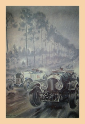 1929 Le Mans Illustration by Geo Ham